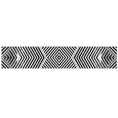 Black And White Line Abstract Flano Scarf (Large)