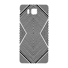 Black And White Line Abstract Samsung Galaxy Alpha Hardshell Back Case