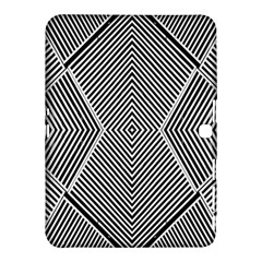 Black And White Line Abstract Samsung Galaxy Tab 4 (10.1 ) Hardshell Case