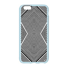 Black And White Line Abstract Apple Seamless iPhone 6/6S Case (Color)