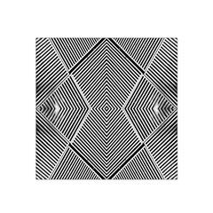 Black And White Line Abstract Satin Bandana Scarf