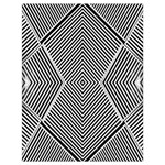 Black And White Line Abstract Drawstring Bag (Large) Back
