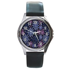 Pixel Pattern Colorful And Glittering Pixelated Round Metal Watch