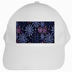 Pixel Pattern Colorful And Glittering Pixelated White Cap