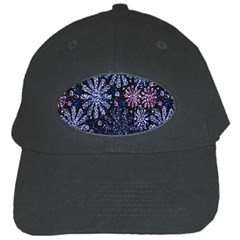 Pixel Pattern Colorful And Glittering Pixelated Black Cap