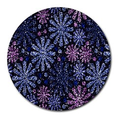 Pixel Pattern Colorful And Glittering Pixelated Round Mousepads