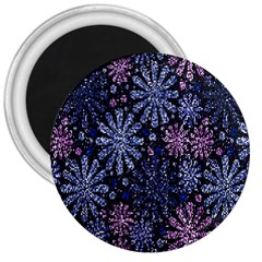 Pixel Pattern Colorful And Glittering Pixelated 3  Magnets