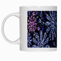 Pixel Pattern Colorful And Glittering Pixelated White Mugs