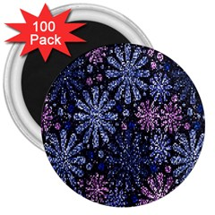 Pixel Pattern Colorful And Glittering Pixelated 3  Magnets (100 Pack)