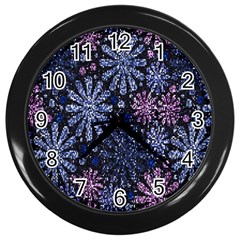 Pixel Pattern Colorful And Glittering Pixelated Wall Clocks (Black)