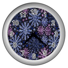 Pixel Pattern Colorful And Glittering Pixelated Wall Clocks (silver)