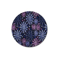 Pixel Pattern Colorful And Glittering Pixelated Magnet 3  (Round)