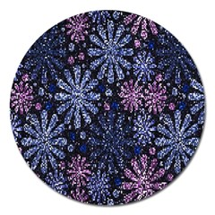 Pixel Pattern Colorful And Glittering Pixelated Magnet 5  (Round)