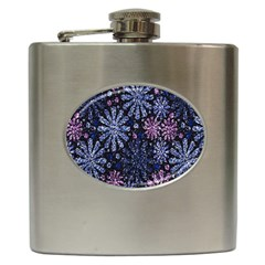 Pixel Pattern Colorful And Glittering Pixelated Hip Flask (6 Oz)