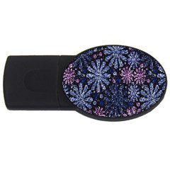 Pixel Pattern Colorful And Glittering Pixelated USB Flash Drive Oval (2 GB)
