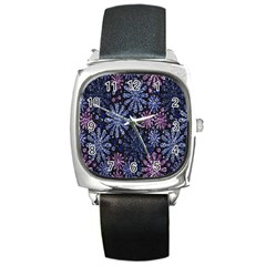 Pixel Pattern Colorful And Glittering Pixelated Square Metal Watch