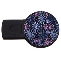 Pixel Pattern Colorful And Glittering Pixelated USB Flash Drive Round (4 GB)