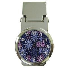 Pixel Pattern Colorful And Glittering Pixelated Money Clip Watches