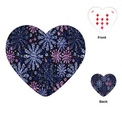 Pixel Pattern Colorful And Glittering Pixelated Playing Cards (Heart)