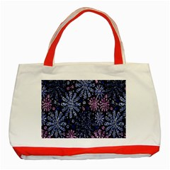 Pixel Pattern Colorful And Glittering Pixelated Classic Tote Bag (red)