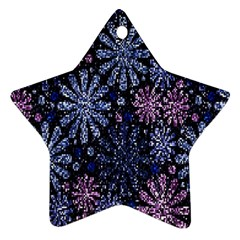 Pixel Pattern Colorful And Glittering Pixelated Star Ornament (Two Sides)