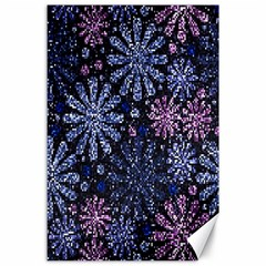 Pixel Pattern Colorful And Glittering Pixelated Canvas 24  x 36