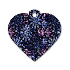 Pixel Pattern Colorful And Glittering Pixelated Dog Tag Heart (one Side)