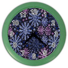 Pixel Pattern Colorful And Glittering Pixelated Color Wall Clocks