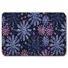 Pixel Pattern Colorful And Glittering Pixelated Large Doormat