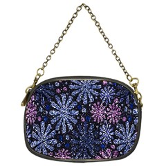 Pixel Pattern Colorful And Glittering Pixelated Chain Purses (One Side)
