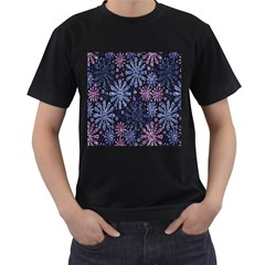 Pixel Pattern Colorful And Glittering Pixelated Men s T Shirt (black)