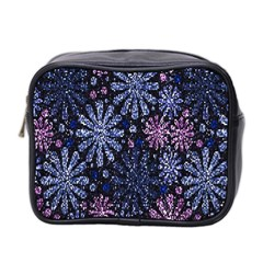 Pixel Pattern Colorful And Glittering Pixelated Mini Toiletries Bag 2 Side