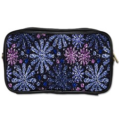 Pixel Pattern Colorful And Glittering Pixelated Toiletries Bags 2 Side