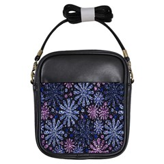 Pixel Pattern Colorful And Glittering Pixelated Girls Sling Bags