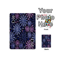 Pixel Pattern Colorful And Glittering Pixelated Playing Cards 54 (Mini)
