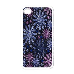 Pixel Pattern Colorful And Glittering Pixelated Apple iPhone 4 Case (White)