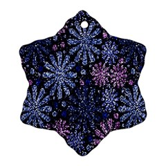 Pixel Pattern Colorful And Glittering Pixelated Ornament (Snowflake)