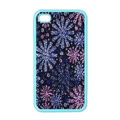 Pixel Pattern Colorful And Glittering Pixelated Apple iPhone 4 Case (Color)