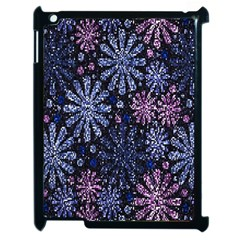 Pixel Pattern Colorful And Glittering Pixelated Apple iPad 2 Case (Black)