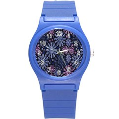 Pixel Pattern Colorful And Glittering Pixelated Round Plastic Sport Watch (s)