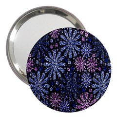 Pixel Pattern Colorful And Glittering Pixelated 3  Handbag Mirrors