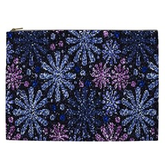 Pixel Pattern Colorful And Glittering Pixelated Cosmetic Bag (xxl)