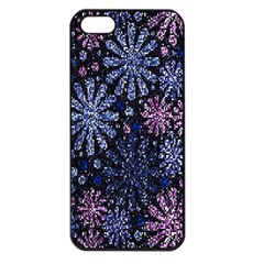 Pixel Pattern Colorful And Glittering Pixelated Apple iPhone 5 Seamless Case (Black)
