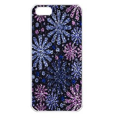 Pixel Pattern Colorful And Glittering Pixelated Apple Iphone 5 Seamless Case (white)