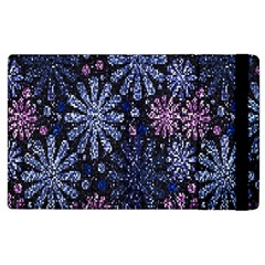 Pixel Pattern Colorful And Glittering Pixelated Apple iPad 2 Flip Case