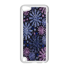 Pixel Pattern Colorful And Glittering Pixelated Apple iPod Touch 5 Case (White)