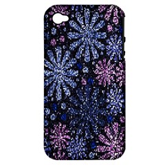 Pixel Pattern Colorful And Glittering Pixelated Apple Iphone 4/4s Hardshell Case (pc+silicone)