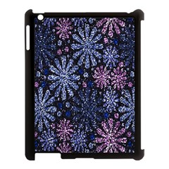 Pixel Pattern Colorful And Glittering Pixelated Apple iPad 3/4 Case (Black)