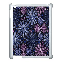 Pixel Pattern Colorful And Glittering Pixelated Apple iPad 3/4 Case (White)