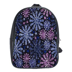 Pixel Pattern Colorful And Glittering Pixelated School Bags (XL)